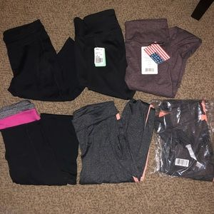 Bundle of 6 Athletic Leggings some NWT